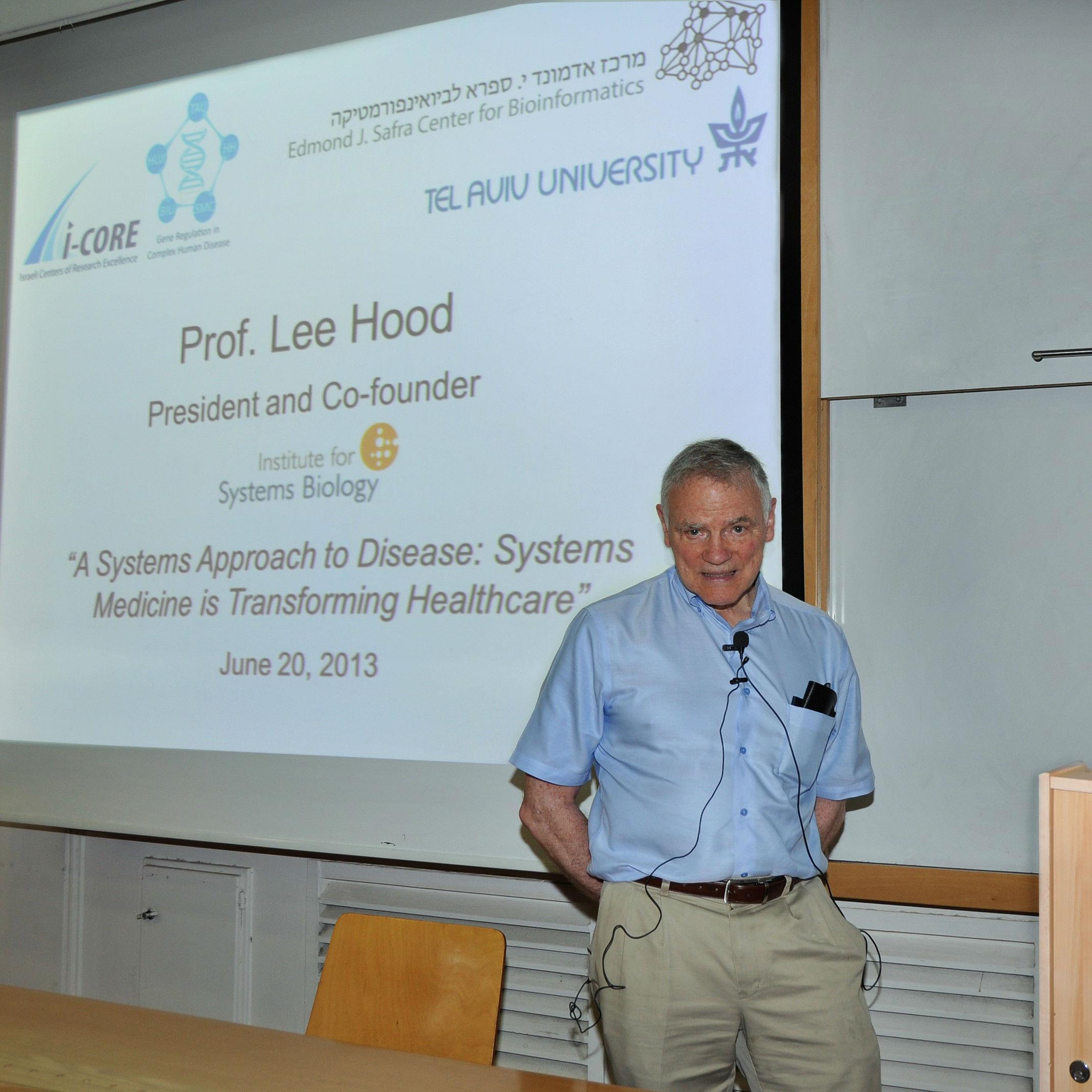 פרופ' לי הוד הרצה באוניברסיטת תל אביב ב- 20 ביוני 2013