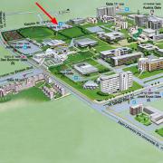 מפת האוניברסיטה עם סימון לשער 10